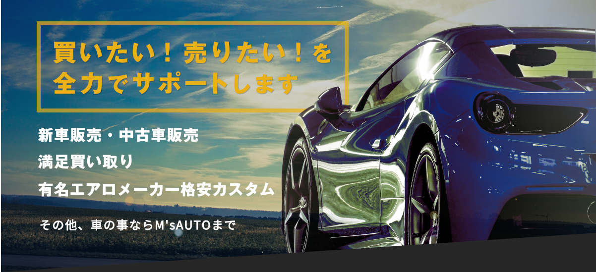 買いたい!売りたい!を全力でサポートします 新車・中古車販売 満足買い取り 有名エアロメーカーカスタム